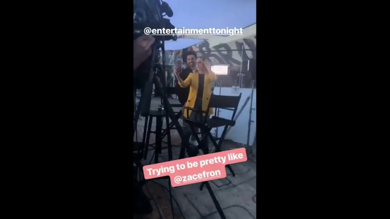 Интервью Зака Эфрона в Instagram Live hugo official via Kelties IG story