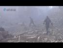 Сирия 10.01.18: очередная постановка бармалеев-белокасочников после авиаудара в г. Ирбин, восточная Гута. в.2