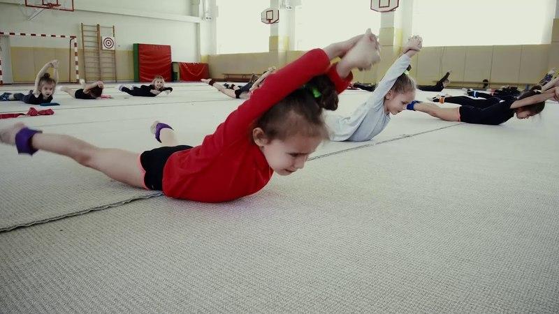 Real training in rhythmic gymnastics. Russia. Художественная Гимнастика.