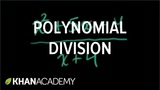 Polynomial division Polynomial and rational functions Algebra II Khan Academy