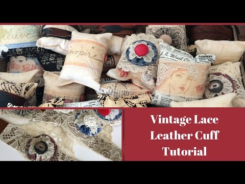Combine Vintage Lace and Scrap Leather to Make this Adjustable Cuff