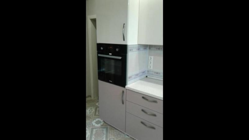 Кухонный гарнитур с фасадами МДФ Пластик.