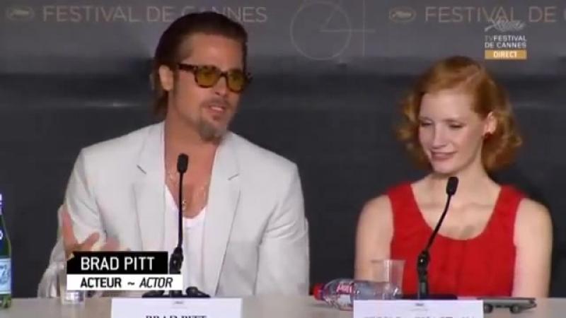 2011 › Пресс-конференция с кастом фильма «Древо жизни» в рамках шестьдесят четвертого Каннского кинофестиваля