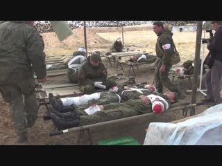 Военные медики соединения ЮВО приняли участие в тактико-специальном учении под Волгоградом