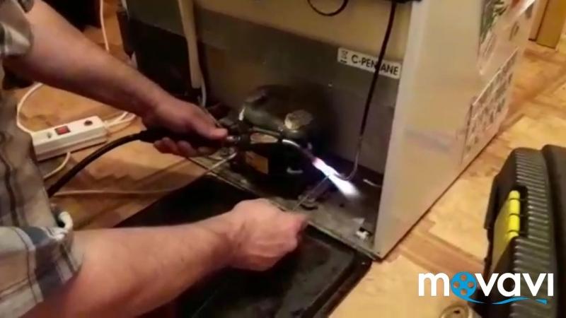 Устранение утечки фреона в холодильнике Индезит(Аристон)