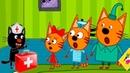 Три Кота Игры в Доктора 8 Поможем Вылечить Котиков мультик для детей про животных
