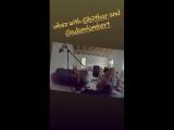 VIDEO from davidciente instagram story @adamlambert IN THE STUDIO SINGING!