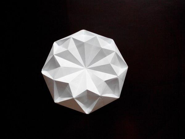 Очень красивый бриллиант оригами (Satoshi Kamiya), Very beautiful diamond origami