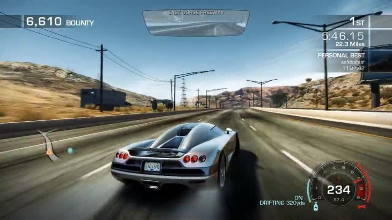 Need For Speed Hot Pursuit 2010 Seacrest Tour World Record 11 22 56 Koenigsegg CCX
