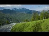 Дорога в горы - аэросъемка VW Tiguan
