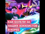 «+1 в Корее» с Ритой Мамун. Как болели за российских хоккеистов