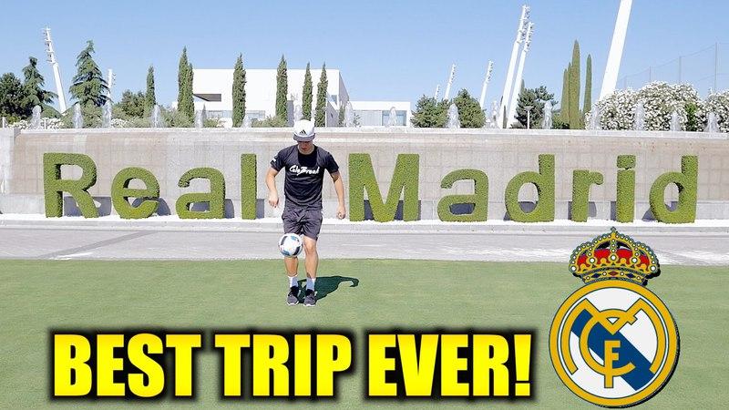 Ilaripro at Real Madrids Training Centre!