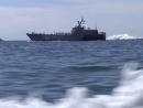 Экипажи быстроходных десантных катеров Балтийского флота учились высаживать морской десант