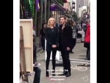 Кэндис Кинг и Джозеф Морган на съёмках в Новом Орлеане