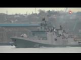 Российский фрегат с ракетами « #Калибр » взял курс на Средиземное море