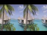 Sharp 3D Demo. Bora Bora Island 3D VR SBS