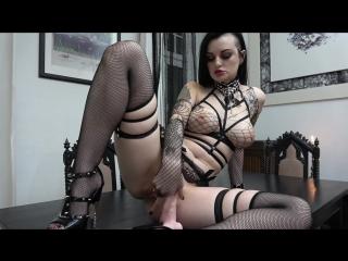 Alissa noir - slutty goth rides and sucks her dildo (1080p) [amateur, gothic gir