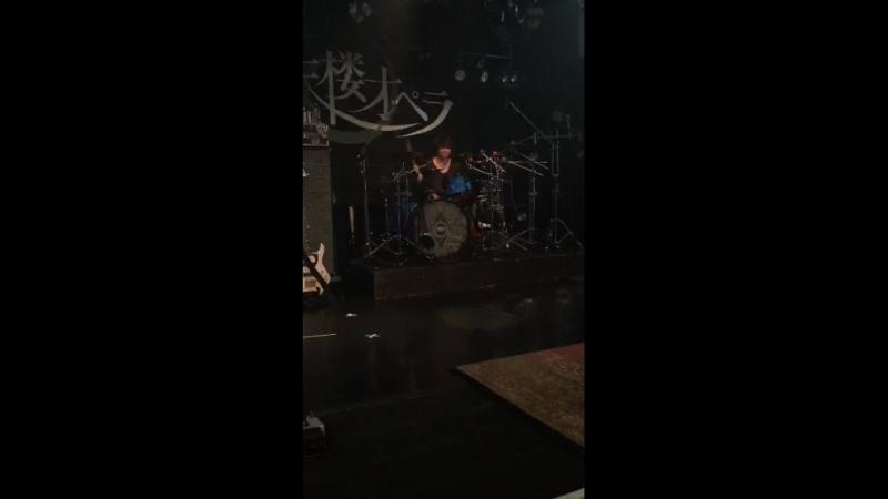 Hibiki Solo on sound chek (BESSIE HALL)