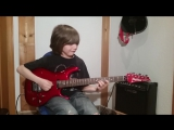 Dustin Tomsen 12 years old covers Eruption of Van Halens first album Во дает