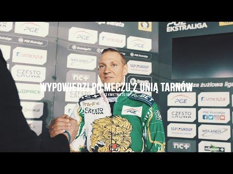 Włókniarz.tv: Fredrik Lindgren i Leon Madsen po meczu z Unią Tarnów (napisy)