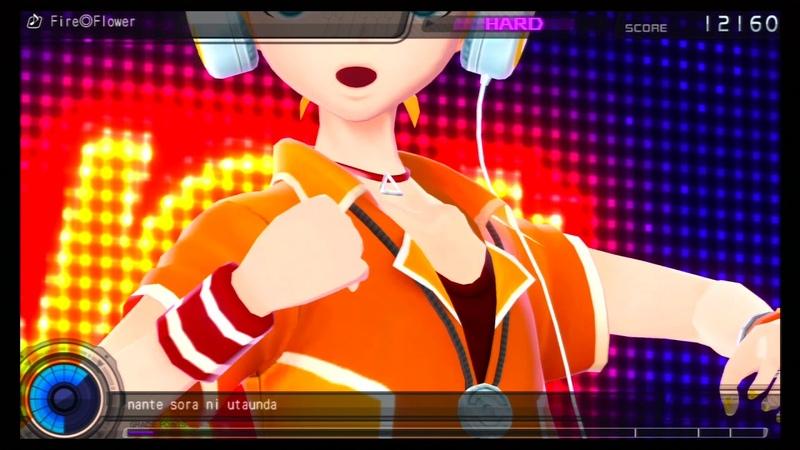 Hatsune Miku: Project DIVA F - Kagmine Len, Akita Neru - Fire◎Flower (hard)