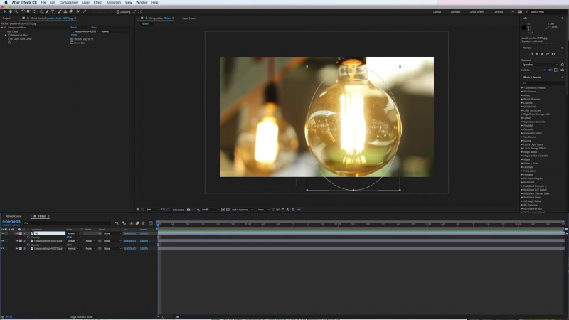 How to use the wiggle expression and make illuminations flicker