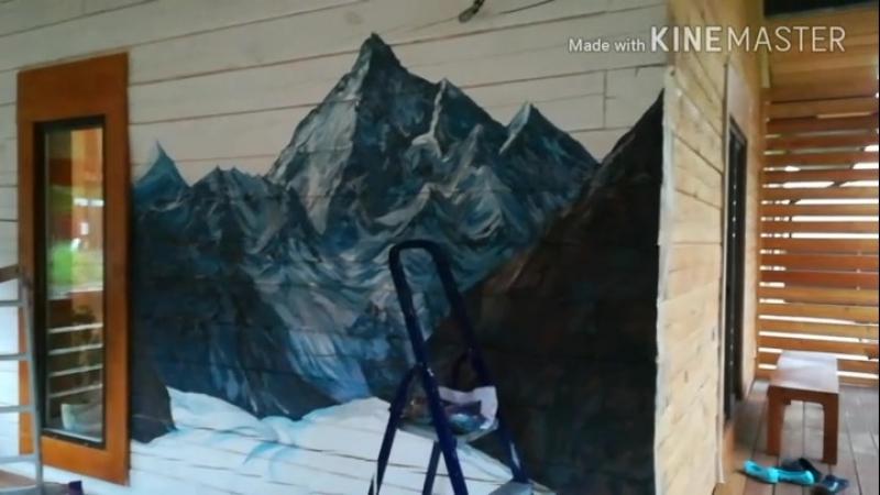 Роспись стен латексной и люминисцентной краской. By Ksenia Eisenheim. 2018