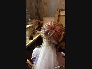 Причёска для невесты 👰 высокий пучок