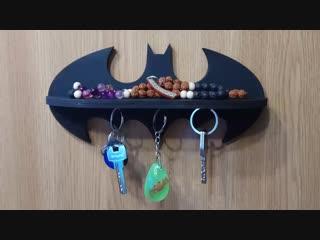 Бэтмен ключница полочка handmade