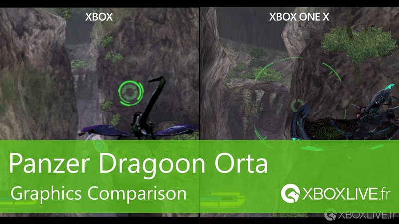 Panzer Dragoon Orta - Gaphics Comparison Xbox One X / Xbox Original