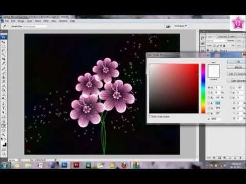 Make a flower boquet using photoshop