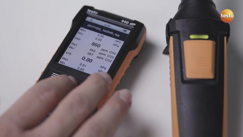 Measuring indoor air quality and comfort level using the testo 440 - Be sure. Testo