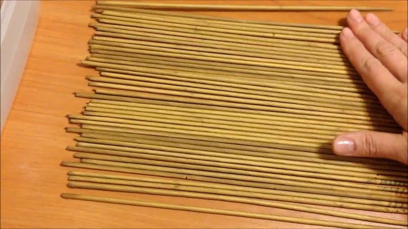 13 Красим трубочки морилкой и делаем их пластичными. Staining the tubes. ENGLISH SUBTITLES.