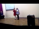 Иванова София и Мальковская София, 3г класс, с песней Hava nagila на иврите