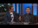 Robert Downey Jr. & Tom Holland on Spider-Man: Homecoming (русские субтитры)