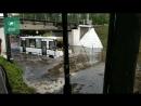 Маршрутка попала в водную ловушку в Зеленогорске