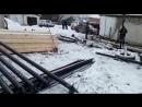 Процесс установки фундамента на винтовых сваях