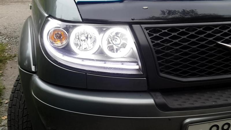Светодиодные ангельские глазки LED для УАЗ Патриот ДХО sd