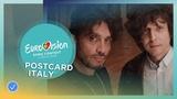 Postcard of Ermal Meta &amp Fabrizio Moro from Italy - Eurovision 2018