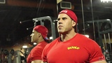 Mr. Olympia Jay Cutler trains back in Las Vegas.