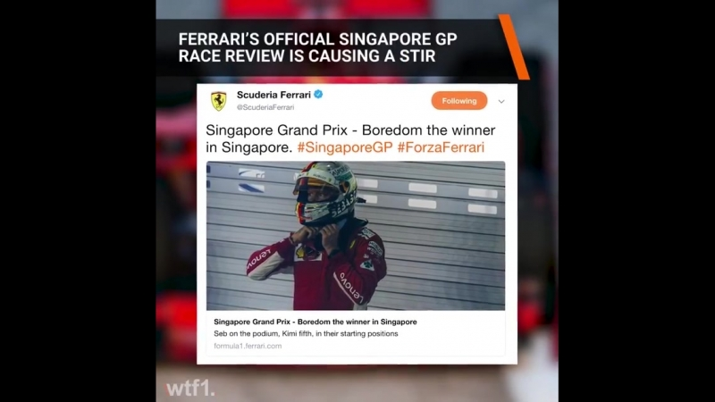 Ferrari's race report is causing quite the reaction on social media 🤔