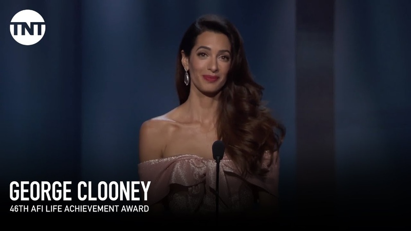 Amal Clooney Tribute to George | AFI 2018 | TNT