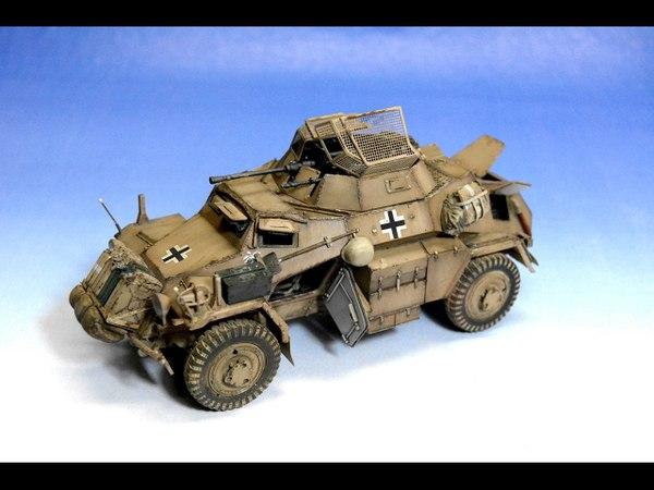 SdKfz 222 Leichter Panzerspähwagen Hobby Boss 1 35 Step by Step