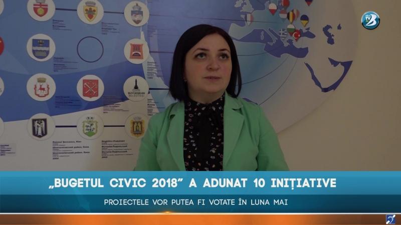 """""""BUGETUL CIVIC 2018"""" A ADUNAT 10 INIȚIATIVE. PROIECTELE VOR PUTEA FI VOTATE ÎN LUNA MAI"""