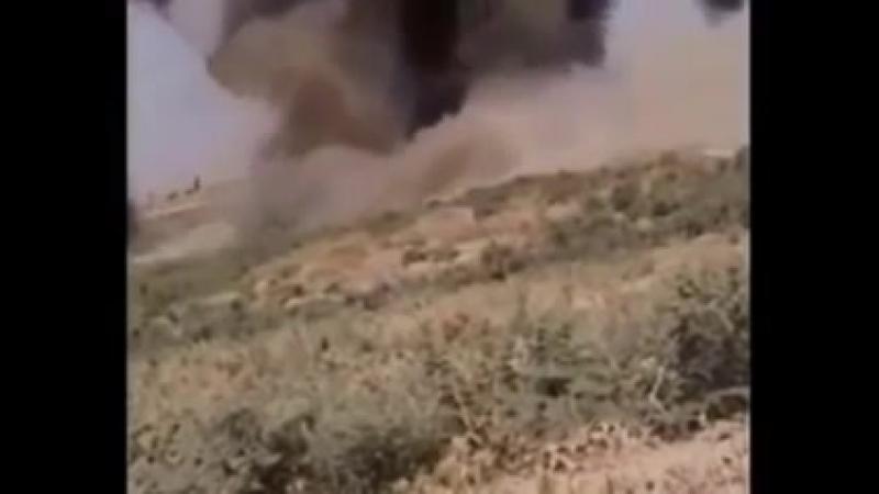 Ирак. Подрыв машины с одним из чеченских лидеров ячейки ИГИЛ на СВУ бойцов шиитского ополчения