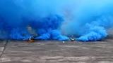 Дымовая завеса - двойной дым синий MEGA SMOKING BLUE - MA0514B