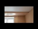 Двухуровневый потолок После натяжки полотна и установки осветительных приборов