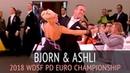 Bjorn Bitsch Ashli Williamson | Медленный вальс | 2018 WDSF PD Чемпионат Европы - Четвертьфинал