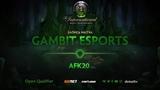 Gambit Esports против afk20, Первая карта, Открытая СНГ квалификация к TI8
