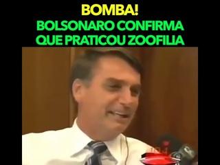 Bolsonaro confirma ter praticado Zoofilia